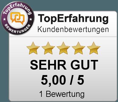 Gütesiegel von freeshophoster.de bei TopErfahrung.de