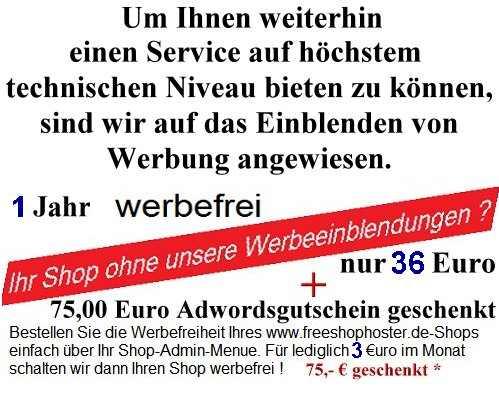Shop Werbefrei Schalten Kostenlose Onlineshop Software
